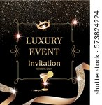 luxury event invitation card... | Shutterstock .eps vector #573824224