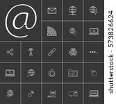 email. linear internet icons...
