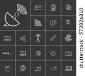 location. linear internet icons ...