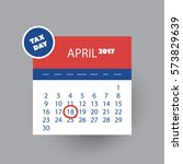 us tax day icon   calendar... | Shutterstock .eps vector #573829639