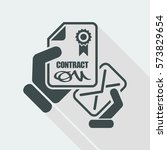contract icon | Shutterstock .eps vector #573829654