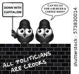 comical anti capitalism... | Shutterstock .eps vector #573830014