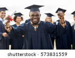 education  gesture and people... | Shutterstock . vector #573831559