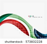 colorful elegant flowing wave.... | Shutterstock .eps vector #573832228