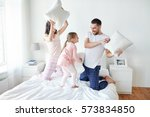 people  family and morning... | Shutterstock . vector #573834850