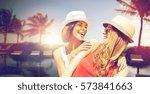 summer holidays  vacation ... | Shutterstock . vector #573841663