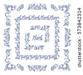 set of square frames  corners ...   Shutterstock .eps vector #573842314