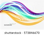colorful stripes on light... | Shutterstock .eps vector #573846670