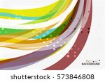 colorful stripes on light... | Shutterstock .eps vector #573846808