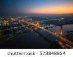 bhumiphol bridge from top view... | Shutterstock . vector #573848824