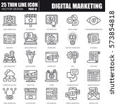 thin line digital marketing... | Shutterstock .eps vector #573854818