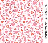 love theme  cupids  amours ... | Shutterstock .eps vector #573858076