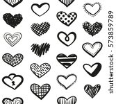 vector love seamless pattern... | Shutterstock .eps vector #573859789