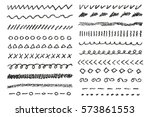 Wax Crayon Borders Set. Vector...