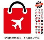 duty free shopping icon with... | Shutterstock .eps vector #573862948