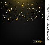 confetti isolated on dark...   Shutterstock .eps vector #573863428