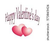 happy valentine's day | Shutterstock . vector #573865426
