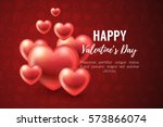 valentines day background with... | Shutterstock .eps vector #573866074