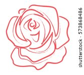 rose icon | Shutterstock .eps vector #573868486