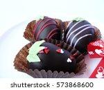 Close Up Of Trio Chocolate Bal...