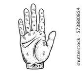 fortune teller hand with... | Shutterstock .eps vector #573880834