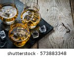 Whiskey With Ice In Glasses ...