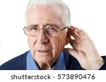 studio shot of  senior man... | Shutterstock . vector #573890476