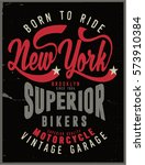 vintage biker graphics and... | Shutterstock .eps vector #573910384