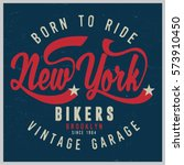 vintage biker graphics and... | Shutterstock .eps vector #573910450