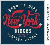 vintage biker graphics and... | Shutterstock .eps vector #573910450