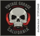 vintage biker graphics and... | Shutterstock .eps vector #573910468