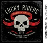 vintage biker graphics and... | Shutterstock .eps vector #573910504