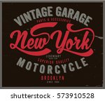 vintage biker graphics and... | Shutterstock .eps vector #573910528