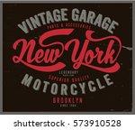 vintage biker graphics and...   Shutterstock .eps vector #573910528