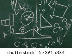 doodle green chalkboard ... | Shutterstock . vector #573915334