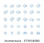 outline weather icon | Shutterstock .eps vector #573918580
