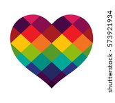 heart vector design with... | Shutterstock .eps vector #573921934