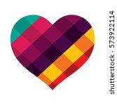 heart vector design with... | Shutterstock .eps vector #573922114