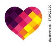 heart vector design with... | Shutterstock .eps vector #573922120