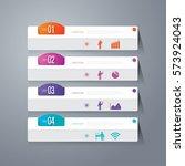 infographics design vector and... | Shutterstock .eps vector #573924043