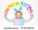 Funny Little Boy With Bunny...