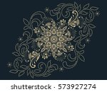 vector illustration of mehndi... | Shutterstock .eps vector #573927274