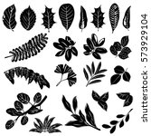 Leaves Silhouettes Of Trees An...