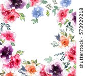 floral background. watercolor... | Shutterstock . vector #573929218
