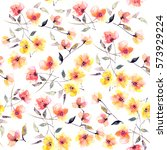 seamless floral background.... | Shutterstock . vector #573929224