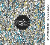 hand drawn pattern with... | Shutterstock .eps vector #573931600
