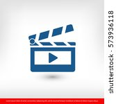 clapper board  icon. one of set ... | Shutterstock .eps vector #573936118
