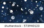 vector flat cosmos design... | Shutterstock .eps vector #573940123