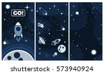 vector flat cosmos background....