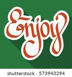 typographical design concept... | Shutterstock .eps vector #573943294